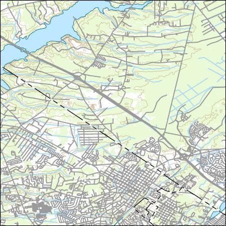Usgs Topo Map Vector Data Vector 43740 Summerville South Carolina