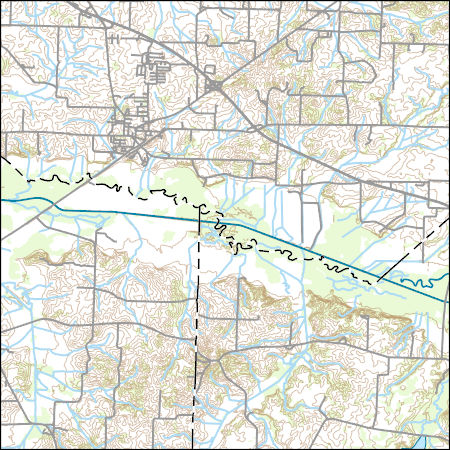 Bells Tennessee Map.Usgs Combined Vector For Bells Tennessee 20160601 7 5 X 7 5 Minute