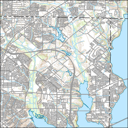 Usgs Topo Map Vector Data Vector 38806 Rowlett Texas