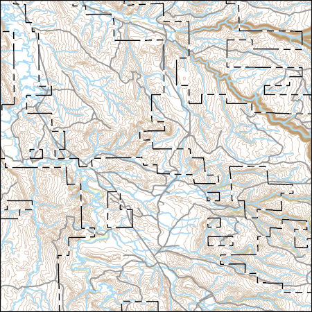 USGS Topo Map Vector Data (Vector) 3874 Big Trails, Wyoming